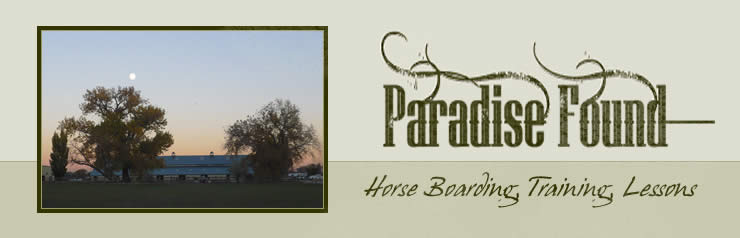 Paradise Found Farm Horse Boarding and Training in Northern Colorado